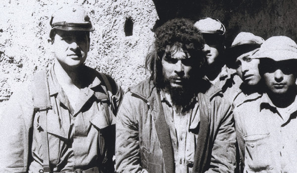 ... Felix is at left , the slob in a bead is Guevara ...