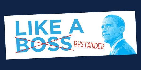 bumper sticker (like a bystander)