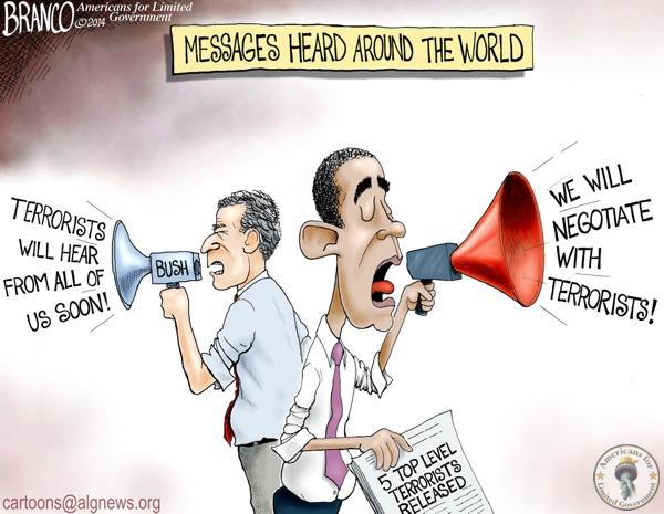 branco cartoon (dubya v obama)