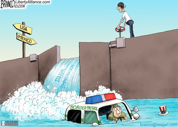 branco cartoon (illegal immigration flood)