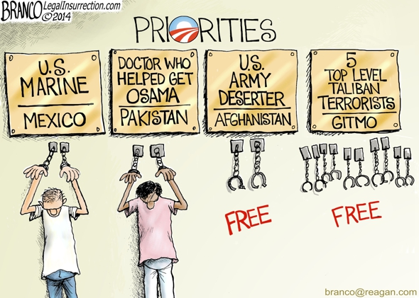 branco cartoon (obama warped sense of priorities)