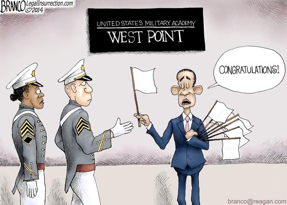 branco cartoon (POTUS @ west point)