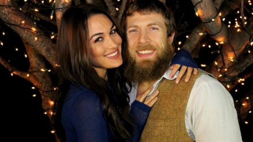 ... Daniel Bryan , with his wife Brie Bella ...