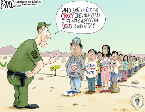 branco cartoon (kids at the border)