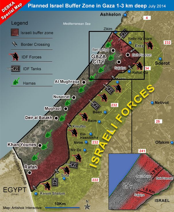 idf -- planned buffer zone