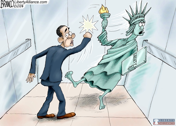branco cartoon (POTUS assault on liberty)