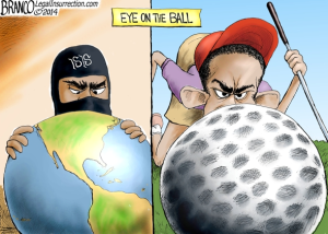 branco cartoon (POTUS eye on the ball)