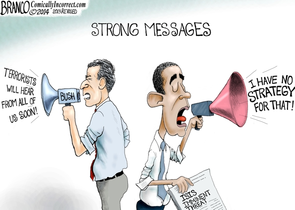 branco cartoon (POTUS no strategy)