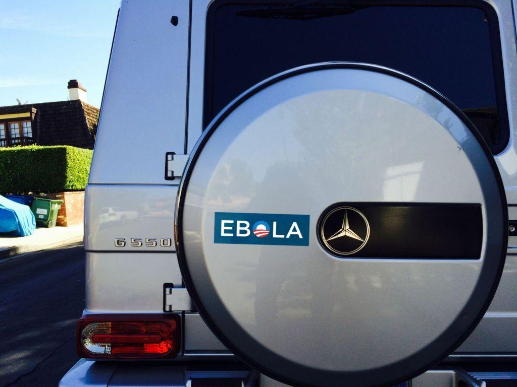 ebola bumper sticker (obama 0)