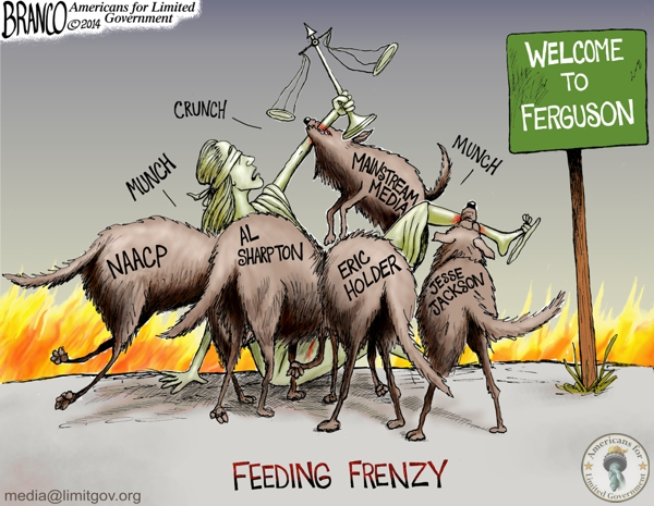 branco cartoon (ferguson , mo)(media feeding frenzy)