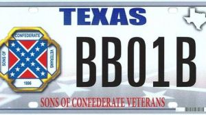 Sons of Confederate Veterans [Texas] license plate