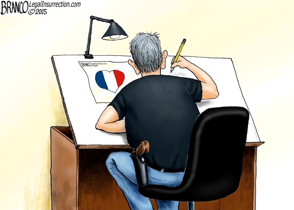 branco cartoon (france tricolour heart)