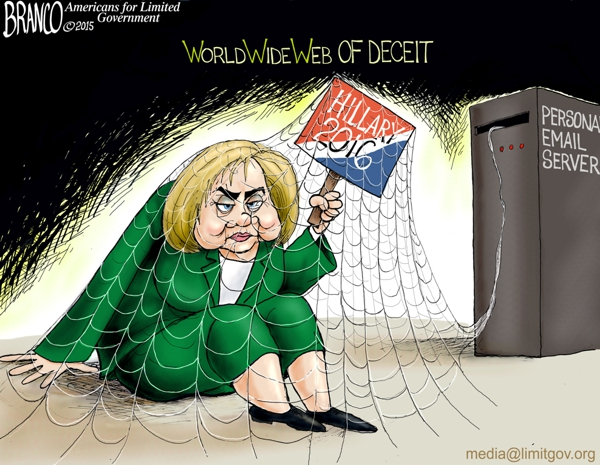branco cartoon (miz hillary e mail server)