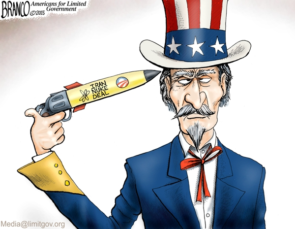 branco cartoon (iran nuclear deal (suicide))