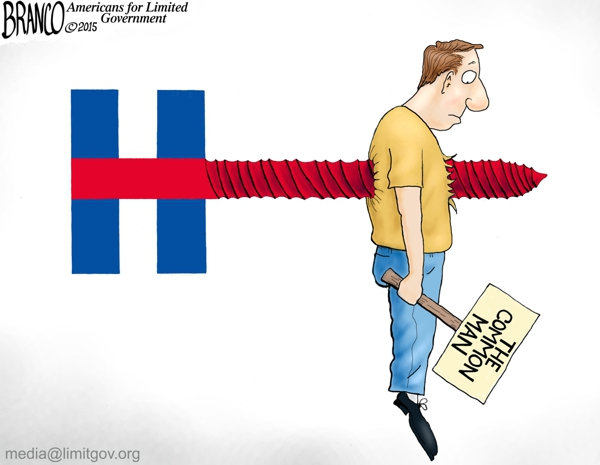 branco cartoon (Miz Hillary screw the Common Man)