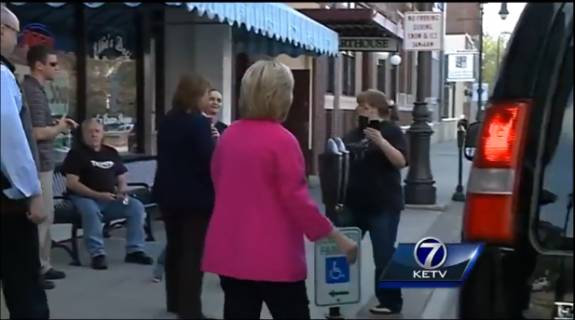 miz hillary blooper (parking in handicapped zone)