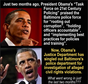 baltimore police department -- what happened