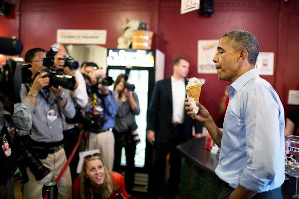 POTUS (ice cream parlor)(memorial day stupidity)