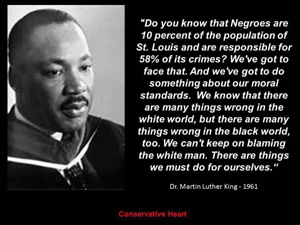 Rev Martin Luther King on black self help