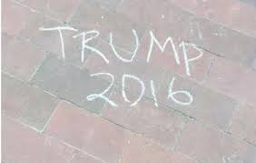 chalk drawing trump 2016