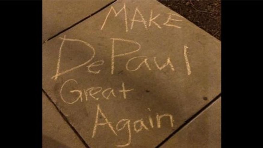 political chalking (depaul university)